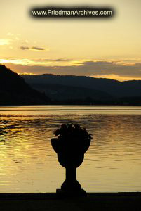 Vase on Lake at Sunset