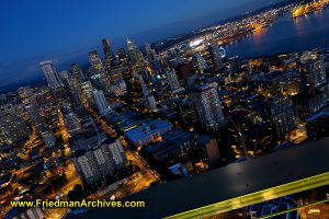 View from Space Needle at Dusk (Horizontal)