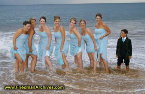 Bridesmaids in the Ocean
