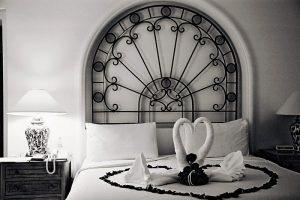 Wedding Sampler Swans in Bed