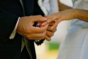 Wedding Sampler Wedding Ring on Finger