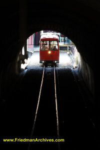 Wellington Cable Car in Tunnel