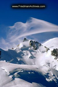 Wispy Cloud over Mt. Blanc
