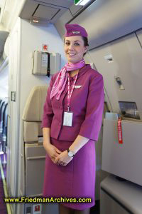 Wow! Airlines Flight Attendant Uniform