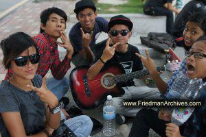 Youths on the Sidewalk