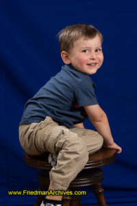 3-year-old on stool